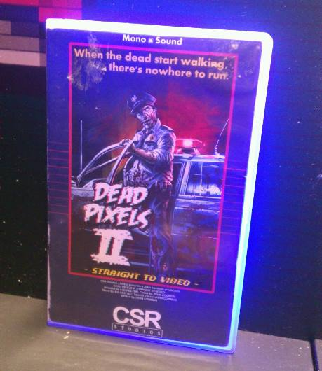 Dead Pixels II VHS box at Rezzed